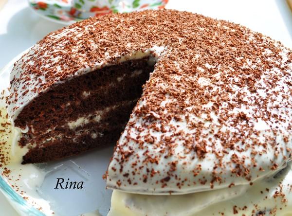 шоколадный торт рецепт с фото со сметанным кремом