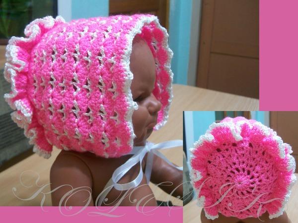 Видеоурок вязания чепчика крючком для новорожденных
