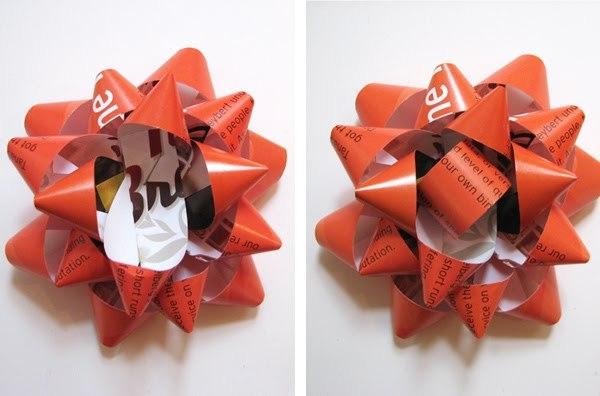 Банты из упаковочной бумаги своими руками