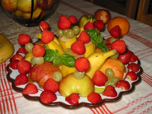 Мастер класс красиво подать фрукты на стол 53