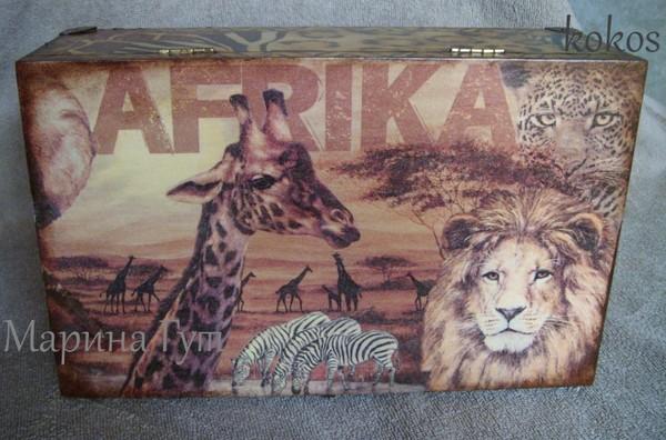 """Фото Шкатулка """"Африка"""""""