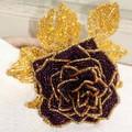 Схемы плетения красивых цветов из бисера.