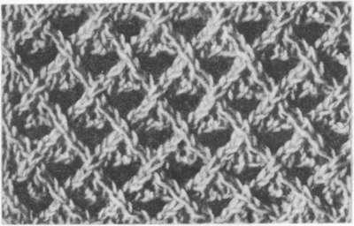 Узоры ажурного вязания: сетка из накидов и перемещённых петель - Связано.РФ Вязание на спицах и крючком.