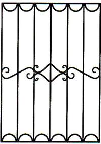 Кованая решетка артикул №01 эскиз на заказ картинка