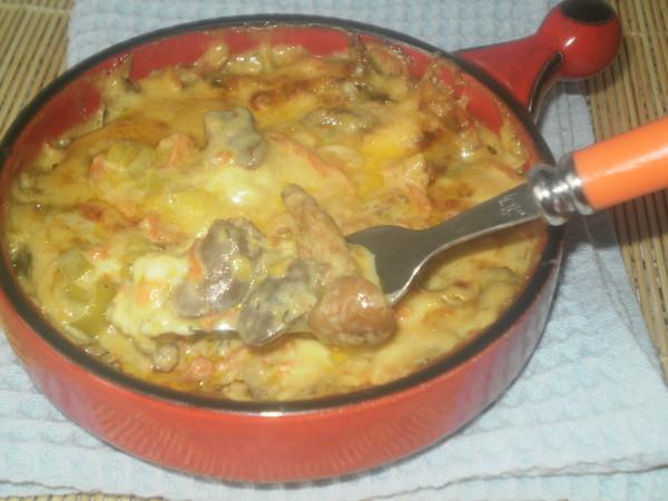 Рецепт куриные сердечки в сырном соусе рецепт