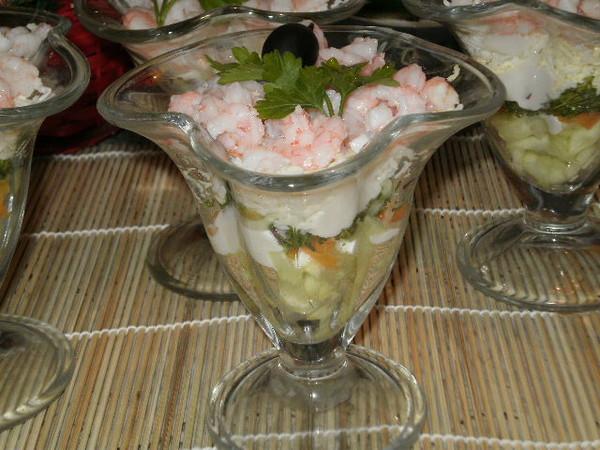 салат в креманке с фото