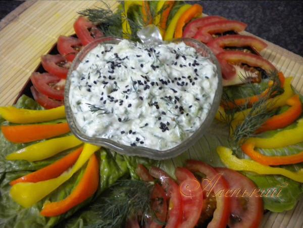 Зеленый йогуртовый соус с мускатным орехом )))