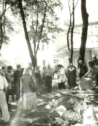 Кто и когда на самом деле осквернил и уничтожил некрополь Грузинских князей у Храма Всех Святых на Соколе в Москве. I-1032