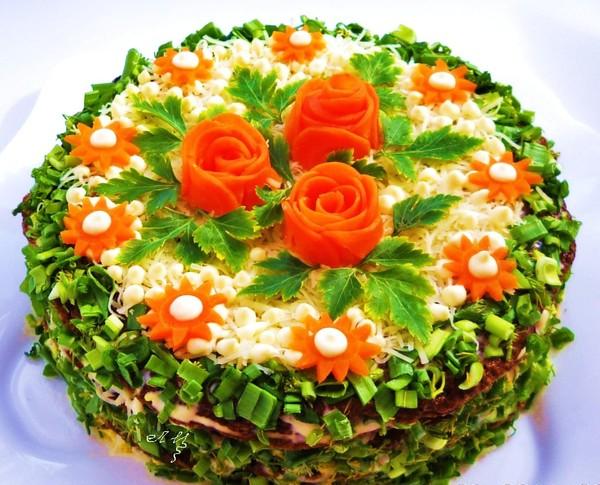 Фото Мой торт из куриной печени.