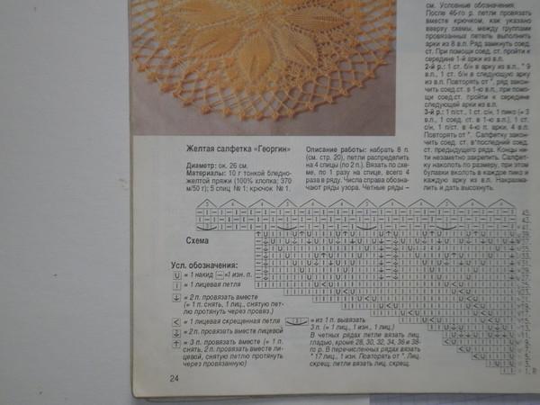 Вязание салфеток на двух спицах 88