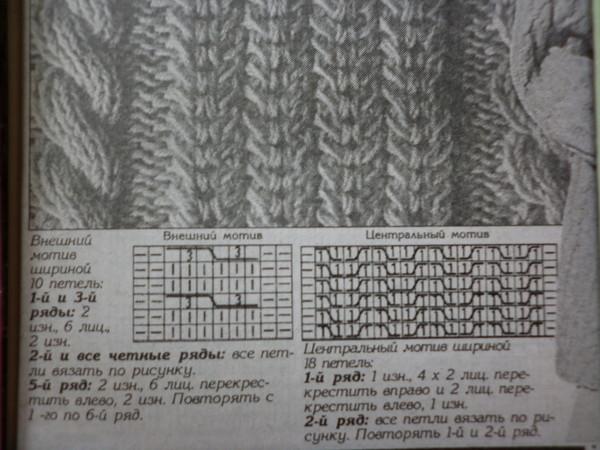 схемы вязания туники ажурные