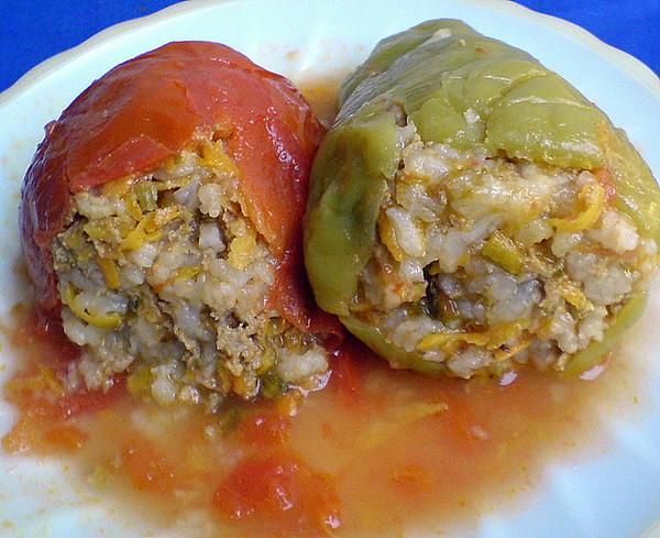 Перец фаршированный мясом и рисом рецепт с сыром