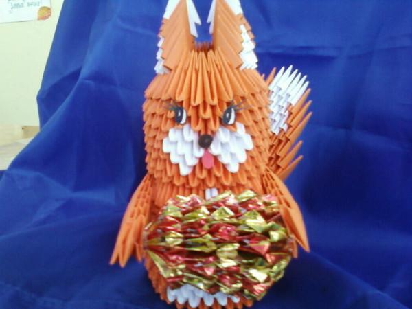 Схема сборки модульного оригами белочка Визажист Ульяновск Елена Кораблёва, Макияж на дому