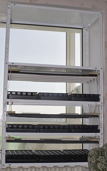 Полки для рассады на подоконник - Стеллаж для выращивания рассады Форум - FORUMHOUSE