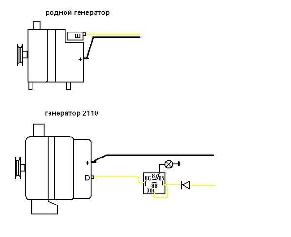 Фото №20 - схема генератора ВАЗ 2110
