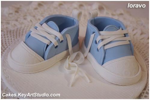 Детские кеды/ботиночки/туфельки из мастики