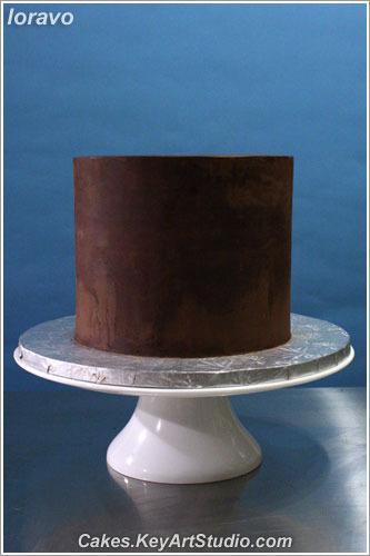 Торт, покрытый ганашем