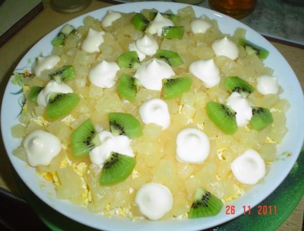 Салат с шампиньонами и ананасами слоями рецепт с
