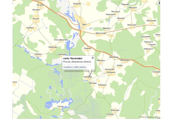 ивановской области карта