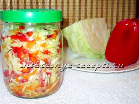 капуста с перцем на зиму рецепты с фото