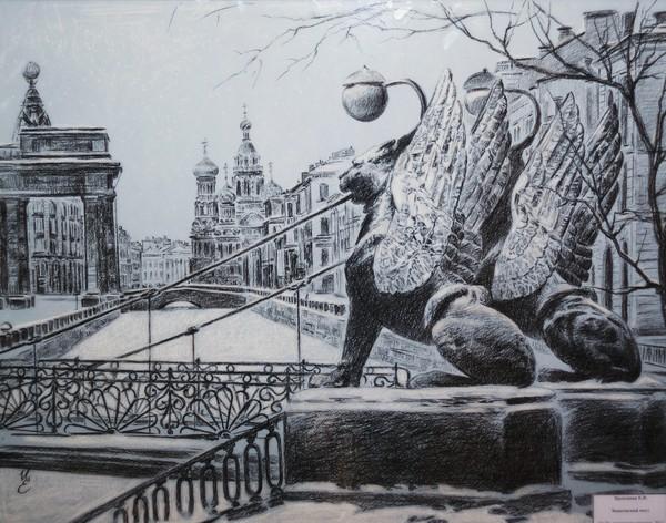 Взгляд, влюблённый в город: Петербург Евгении Цыхоцкой