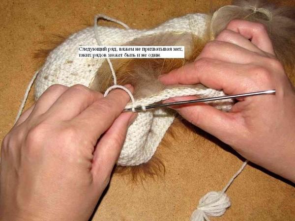 Вяжем из меха своими руками