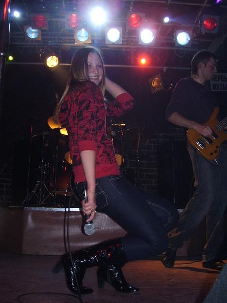 Настёна - вокалистка группы П.Р.О. 2008 - 2012