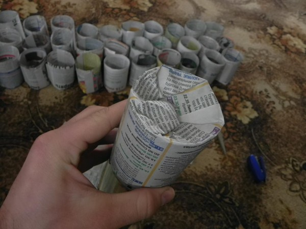 Стаканчик из бумаги для рассады