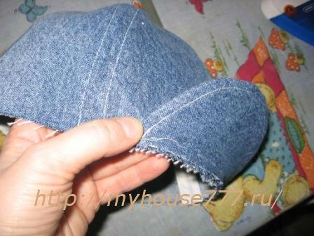 Сшить джинсовую кепку для мальчика 57
