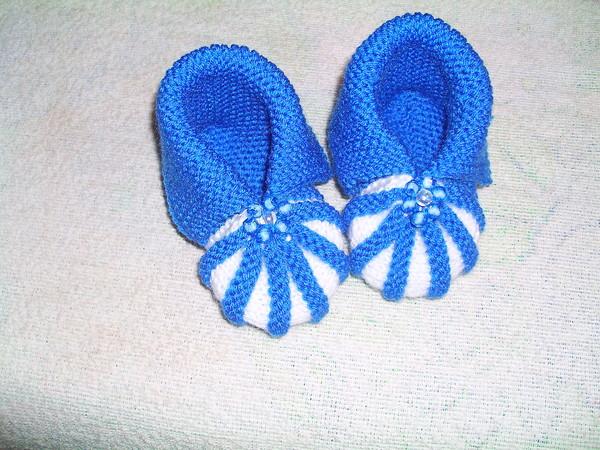 Вязание пинетки для новорожденных