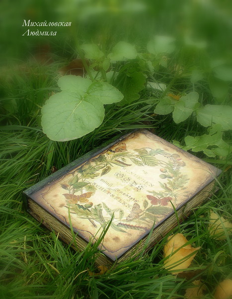 """шкатулка-книга """"Ботаника"""""""