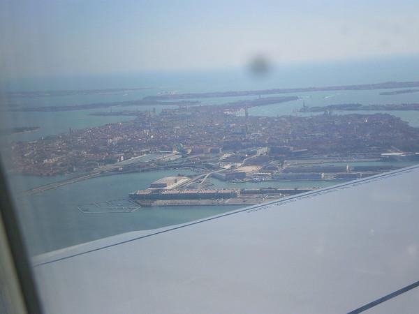 Венеция сверху.стыковка рейсов