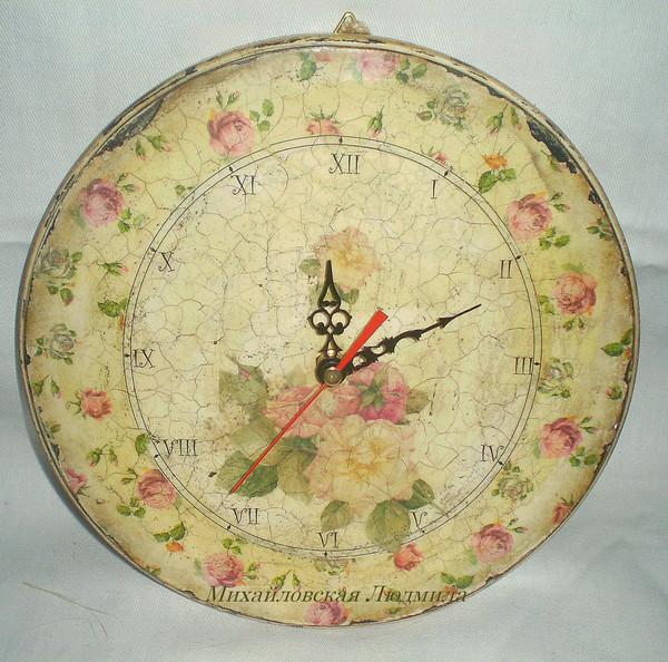 часы Розовый сад