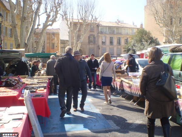 блошиный рынок Экс Прованса