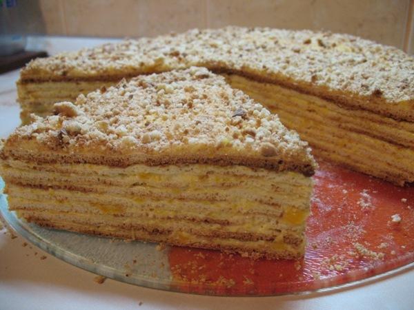 У меня сегодня Лимонный от Мишель И Абрикосовый ( Медовый торт с кремом из кураги ) от Ирины Кутово... - 2