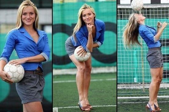 Женщина в футболе?Как это было!