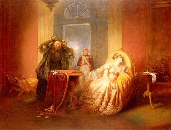 Фото Жозеф Данхаузер Наполеон и Жозефина у гадалки 1844