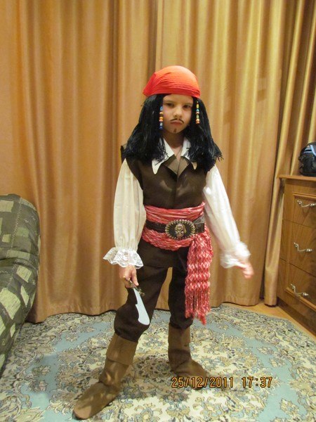 Костюм пирата своими руками сшить