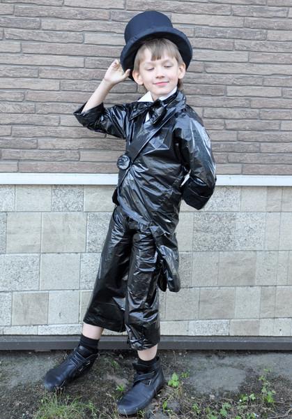 Одежда своими руками из пакетов для мальчика - Одежда своими руками, мастер класс, уроки