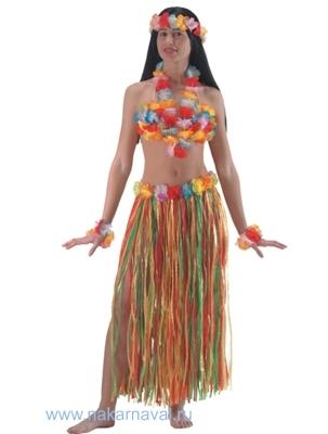 Гавайская юбка своими руками из бумаги