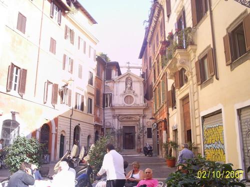 уличные кафе Рима
