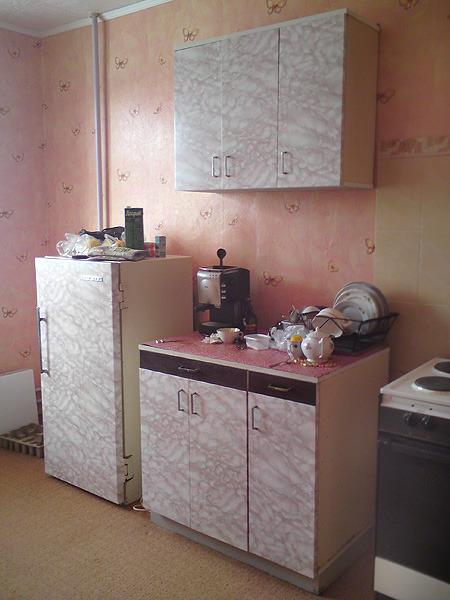 Съемной квартире старый холодильник