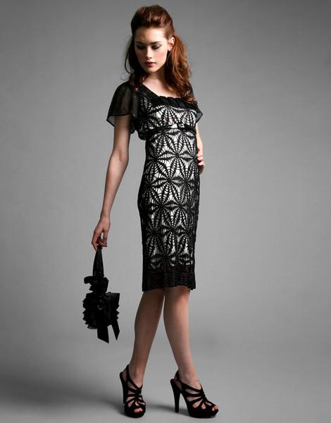 Вязаные крючком вечерние платья схемы.