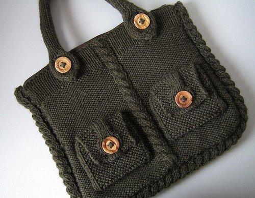 вязание на спицами крючками сумки.