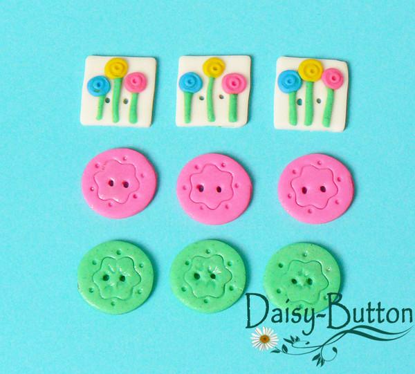 Пуговицы ручной работы Daisy-Button