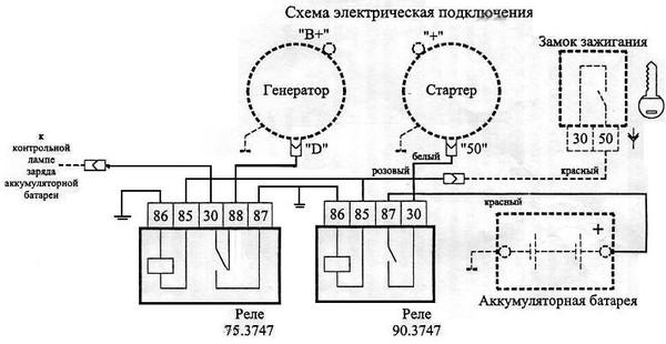Схема подключение панели
