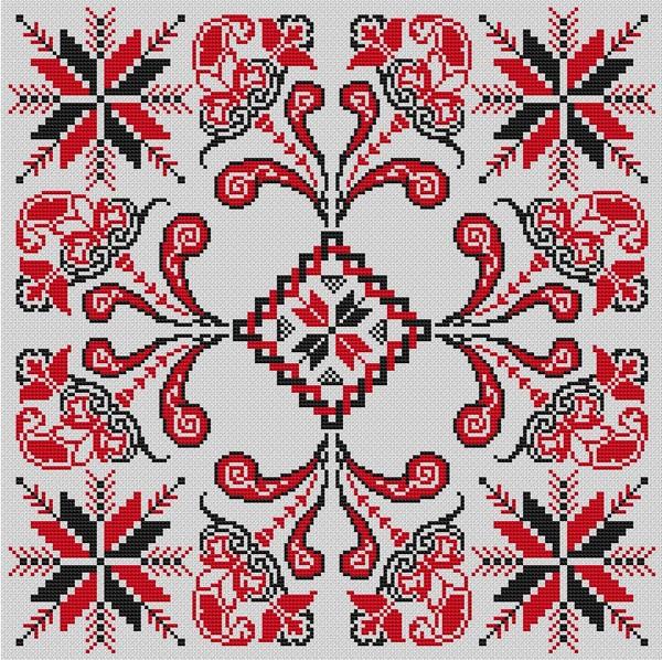 Розы в русской народной вышивке 79