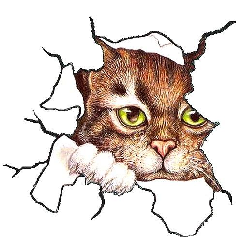 картинки для декупажа коты прикольные