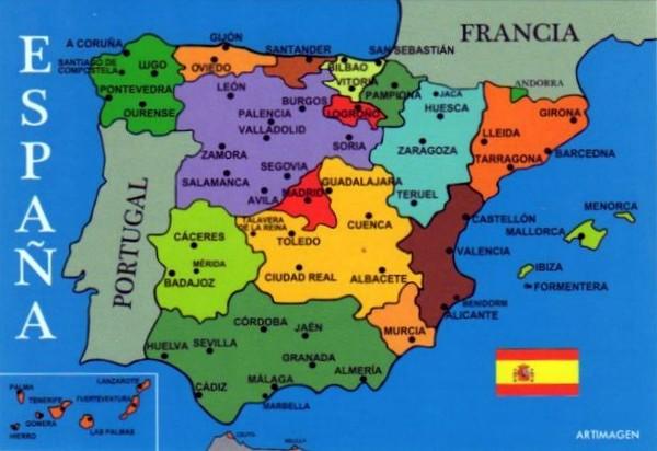 Испания Карта 2012