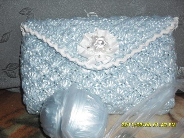 Вязание сумок пластиковых